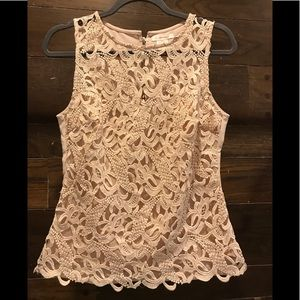 Cream Lined Lace Top